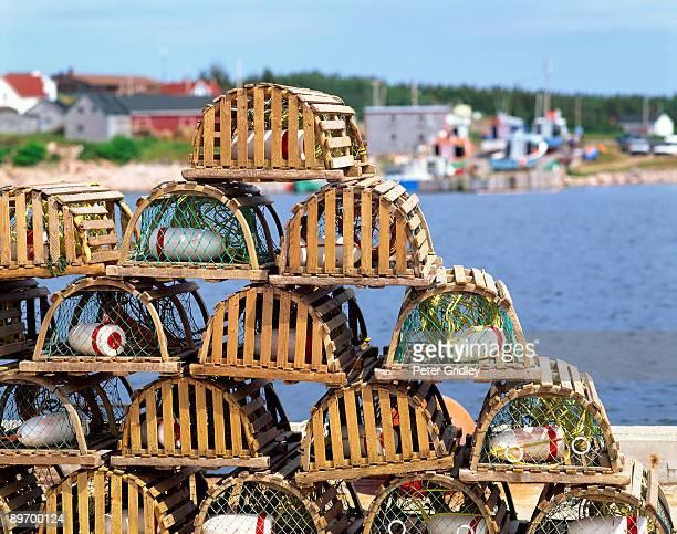 Lobster pots at Neil's Harbor, Cape Breton Island, Nova Scotia, Canada