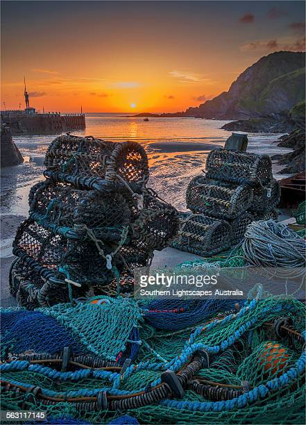 lobster pots ilfracombe - ilfracombe stock photos and pictures