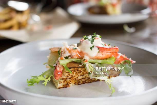 Lobster Roll at Livestock Tavern in Hawa