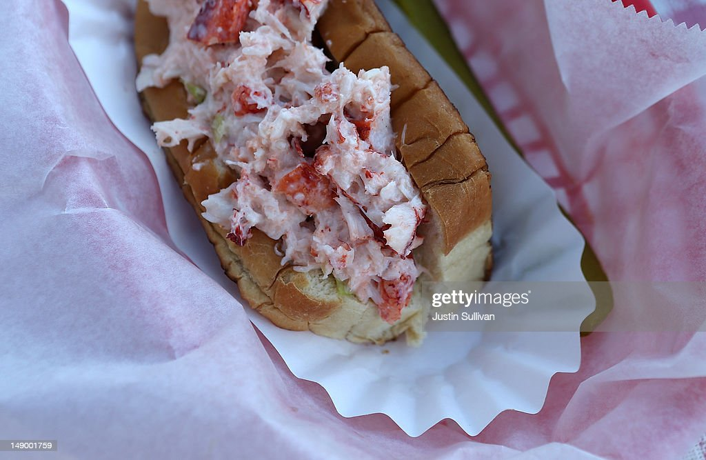A lobster roll is seen at Benny's Famous Fried Clams on July 21, 2012 in Portland, Maine. A mild winter and warmer than usual spring caused lobsters to shed their shells six weeks earlier than usual which resulted in an overabundance of lobsters in the Northeastern United States that has driven down prices to record lows. Lobstermen hope to make at least $4.00 a pound to turn a profit but prices this year have been as low as $1.25 a pound.