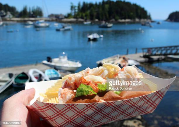 lobster roll, maine - lobster stock pictures, royalty-free photos & images