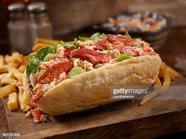 lobster roll - submarine sandwich stock pictures, royalty-free photos & images