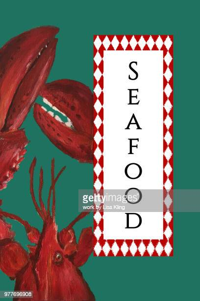 Lobster Seafood Typography