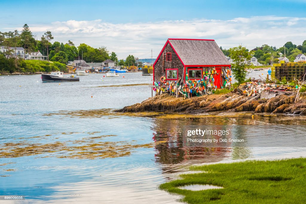 Lobster Shack in Mackerel Cove Maine : Stock Photo