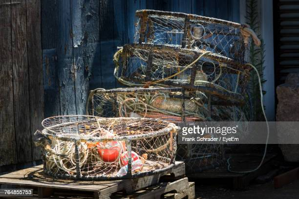 Lobster Traps At Harbor