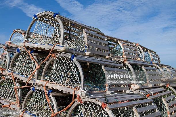 Lobster Traps Stacked