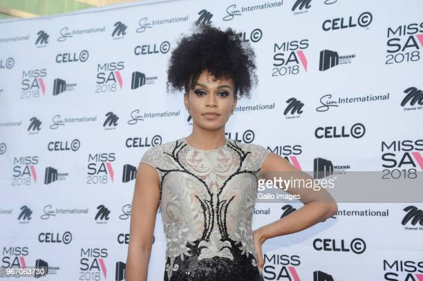 Local actress Pearl Thusi during the Miss SA 2018 beauty pageant grand finale at the Time Square Sun Arena on May 27 2018 in Pretoria South Africa...