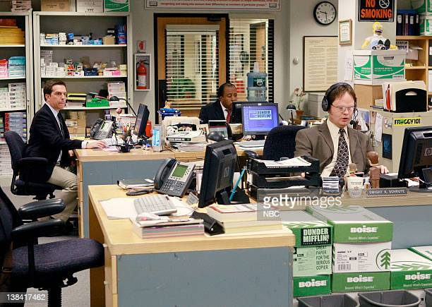 THE OFFICE Local Ad Episode 5 Aired Pictured Ed Helms as Andy Bernard Leslie David Baker as Stanley Hudson and Rainn Wilson as Dwight Schrute