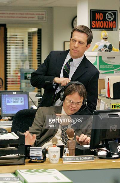 THE OFFICE Local Ad Episode 5 Aired Pictured Rainn Wilson as Dwight Schrute and Ed Helms as Andy Bernard