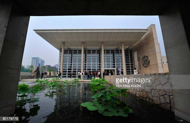 Local and foreign journalists visit the new US embassy in Beijing on August 5 2008 A massive new US embassy the secondlargest in the world after the...