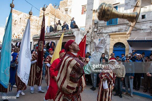 Local and international musicians participate in the Gnaoua World Music Festival to showcase their art and skills in Essaouira Morocco on May 12 2016...