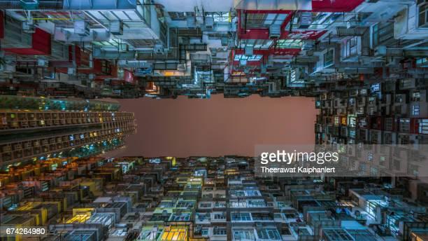 Local apartment buildings in Hong Kong, China