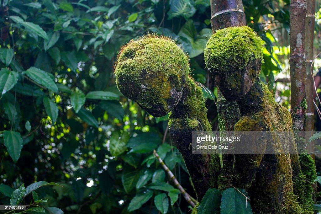 Local art statues found in Tam-awan village : Stock Photo