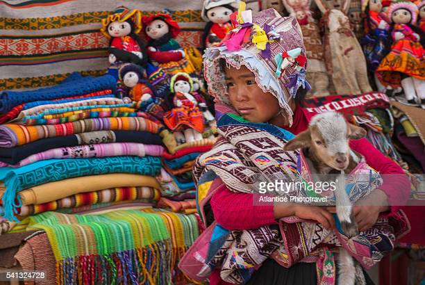 Local children in the Sacred Valley of the Incas or Urubamba Valley