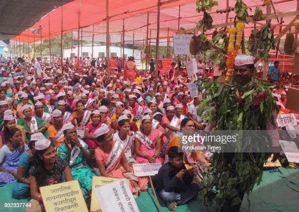 Local citizens from Rajapur Taluka place in Ratnagiri district of Maharashtra gathered at Azad Maidan in large number to protest against the proposed...