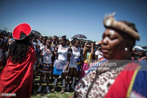 Local cultural groups sing and dance at the Gauteng United Against Racism march on Human Rights Day 21 March in Sharpeville Human Rights day is held...