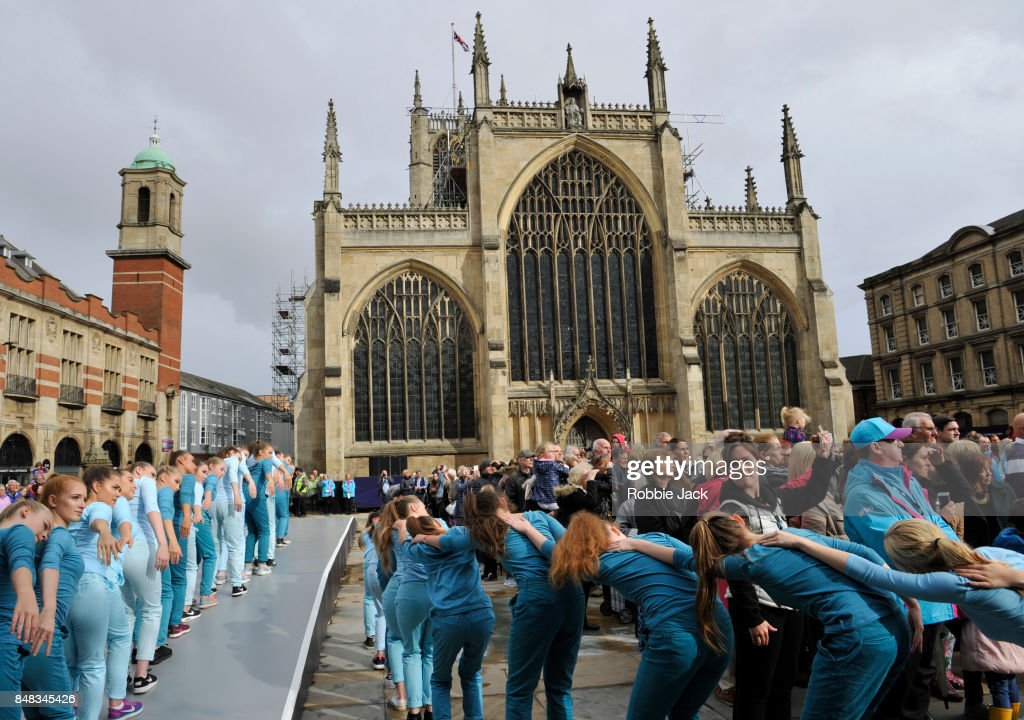 Royal Ballet Perform 'Take Flight' In Front Of The Recently Designated Hull Minster : News Photo