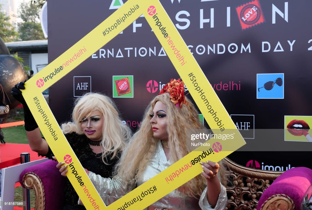 International Condom Day in New Delhi : News Photo