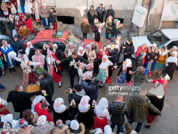 Local families seen celebrating on the street Kimike Inuz is 18 years old and today is her wedding She comes from Ribnovo a village of 3000 deep in...