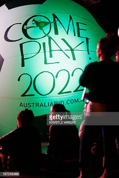 Local fans anxiously await the announcement of the World Cup Soccer bid in Sydney on December 2 2010 Australia lays in contention to host the 2022...