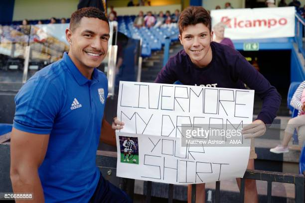 Local fans of England International Jake Livermore of West Bromwich Albion prior to the PreSeason Friendly between Deportivo de La Coruna and West...