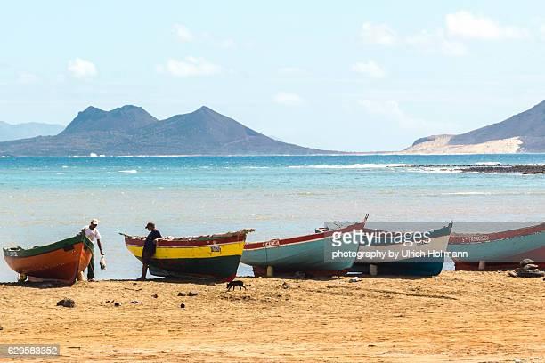 Local fishermen on Ilha de São Vicente, Cape Verde