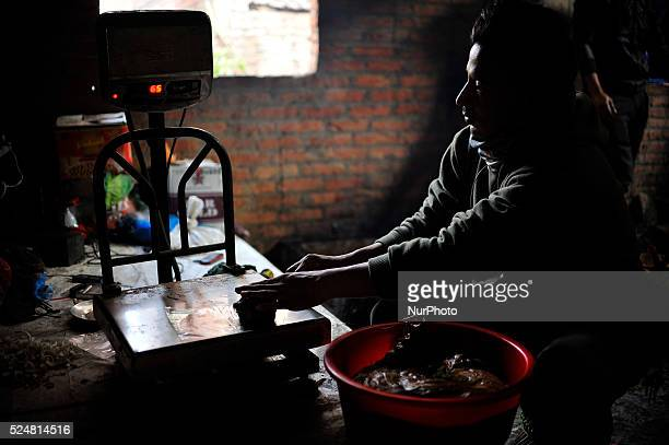 A Local fix weight prepared molasses Chaku for final consuming on 06 January 2015 at Tokha Kathmandu Nepal for the celebration of Maghe Sankranti...