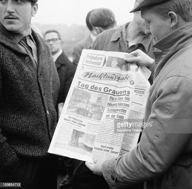 Local Frontpage of a Newspaper About The accident Of The Luisenthal Mine Voelklingen February 9 1962