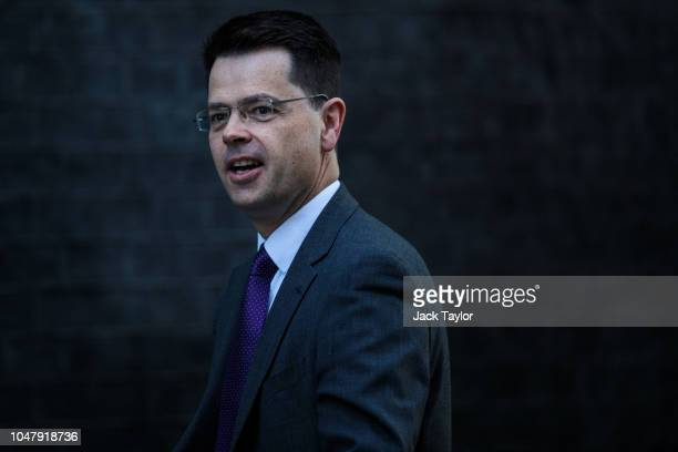 Local Government Secretary James Brokenshire arrives for a Cabinet meeting at 10 Downing Street on October 9 2018 in London England Parliament...