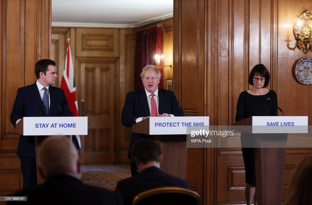 UK PM Johnson Holds A Press Conference To Update The Country On The Coronavirus Pandemic : News Photo
