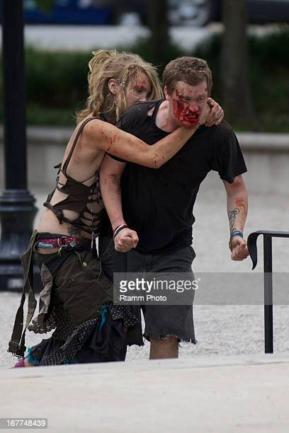 CONTENT] Local graffiti artist after fighting with crustie kids outside of maryland deathfest