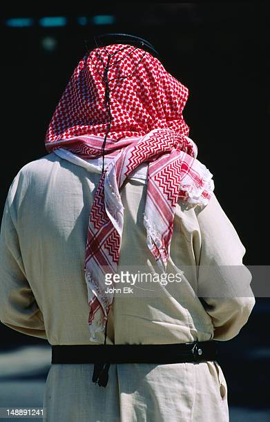 local hama man in traditional kaffiyeh. - syria stock pictures, royalty-free photos & images