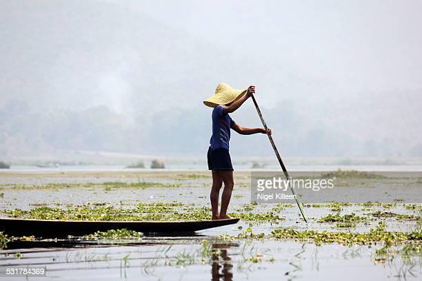 Local Intha fisherman on Inle Lake, Myanmar