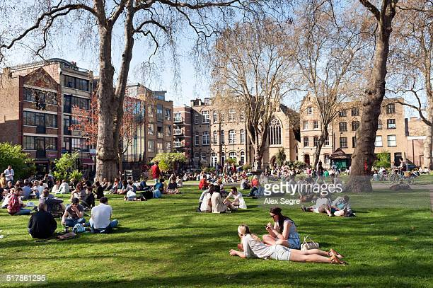 local landmarks - shoreditch stock photos and pictures