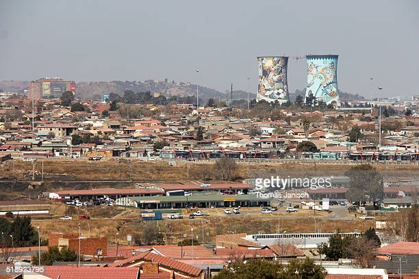 local landmarks - soweto towers stock pictures, royalty-free photos & images