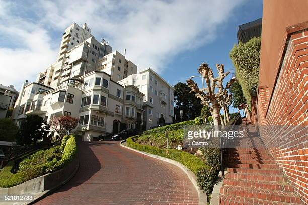 local landmarks - lombard street san francisco stock pictures, royalty-free photos & images