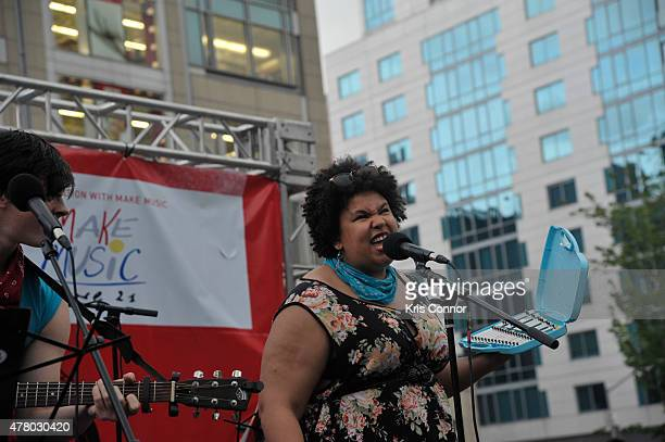 Local musicians play during Guitar Mass Appeal in Union Square as part of Make Music Day 2015 on June 21 2015 in New York City