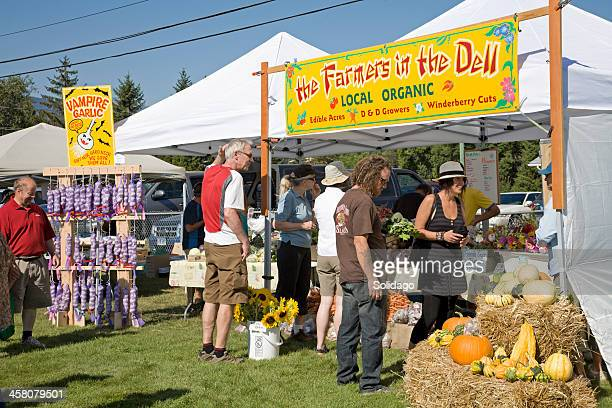 Local Organic Produce At The Country Fall Fair