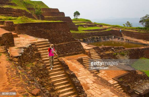 Local people and tourists visit the Sigiriya Lion Rock a ancient archaeological palace and fortress complex and UNESCO World Heritage on February 20...
