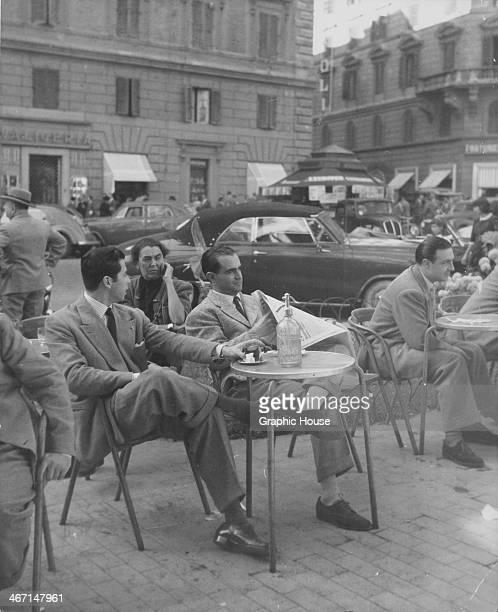Local people enjoying lunch on the Via Veneto Rome Italy circa 1950