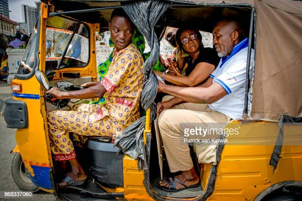 Local people on the street on October 30 2017 in Lagos Nigeria