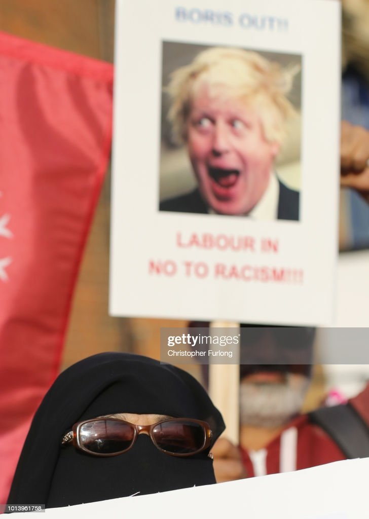 GBR: Protest Following Boris Johnson's Burka Comments