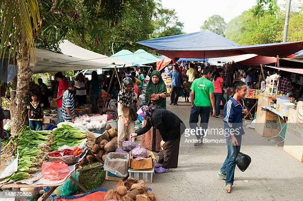local people shopping in monthly market. - monthly event stock pictures, royalty-free photos & images