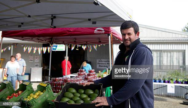 local producer - adelaide market stock pictures, royalty-free photos & images