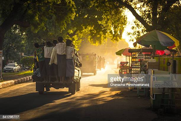 Local public transportation in Bagan