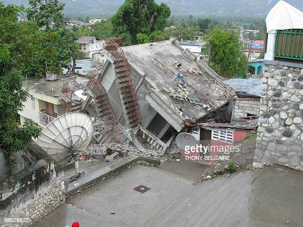 A local radio station lies in ruins in the quakehit Haitian city of Jacmel on March 20 2010 Among the cracked colonial houses and shattered dreams...