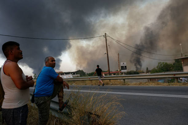 GRC: Wildfire In Northern Athens