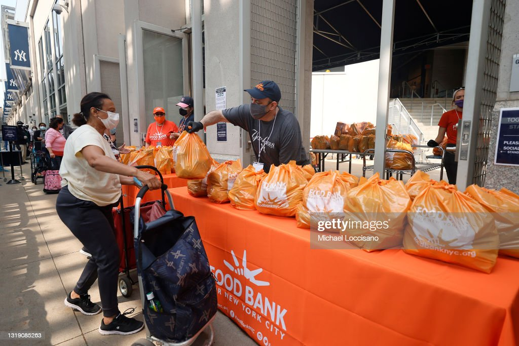 Food Bank For New York City Teams Up With The New York Yankees To Kick-Off Monthly Food Distribution For New Yorkers In Need : News Photo