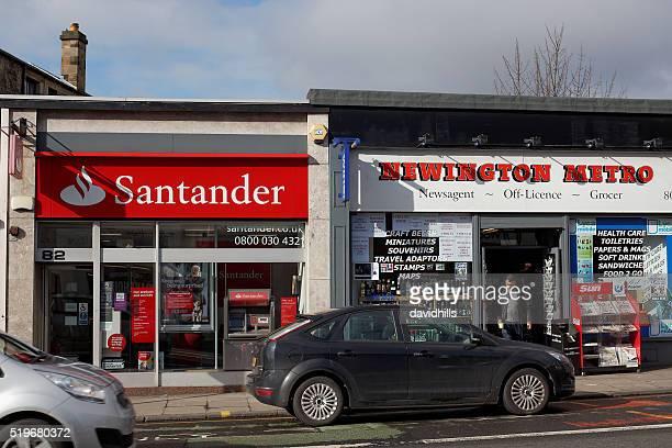 Banco Santander locales de derivación en Edimburgo