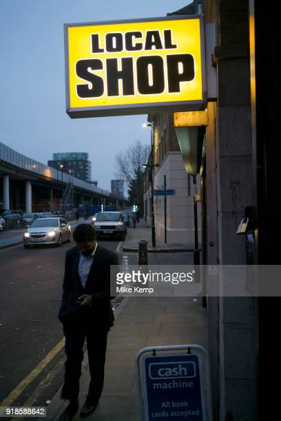 Local shop on Cable Street in the East End of London England United Kingdom